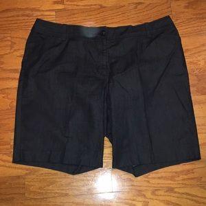 Dressy denim shorts by Ann Taylor